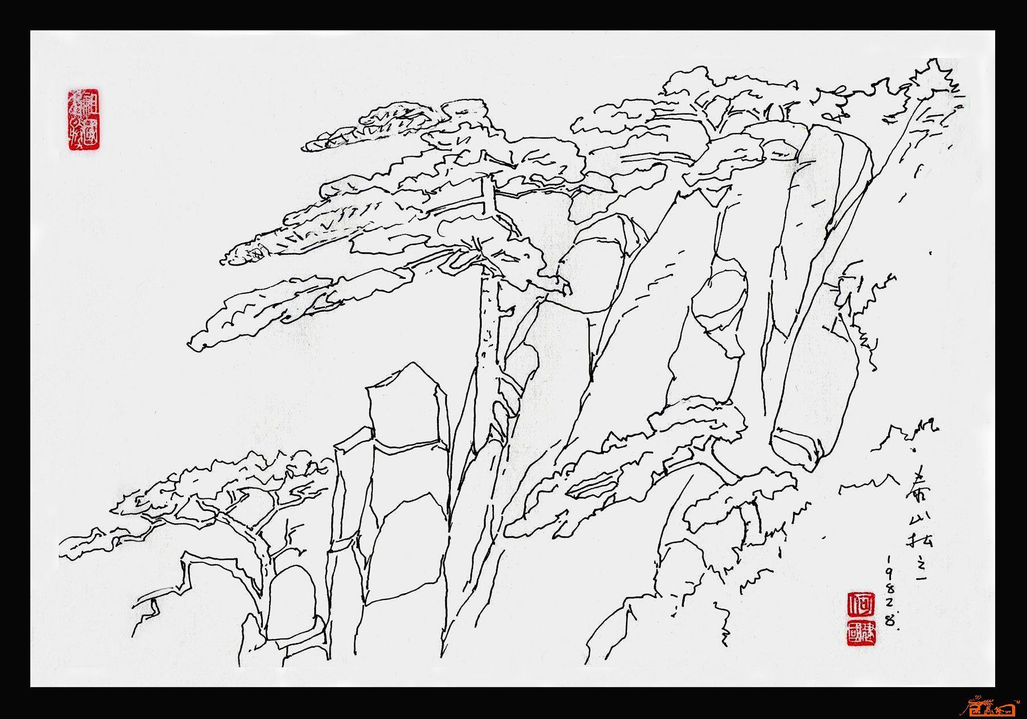 名家 何建国 山水 - 何建国速写画01